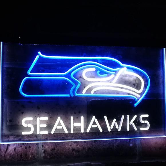 Seattle Seahawks Football NFL Bar Decor Dual Color Led Neon Sign st6-b2058