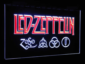 Led Zeppelin Band Music Bar Decoration Gift Dual Color Led Neon Sign st6-c0002