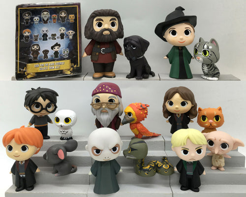 Originele Funko Mystery Minis: Harry Potter - Dobby, Ron, Lord Voldemort, Rubeus One Mystery Action Figure Los speelgoed Geen doos