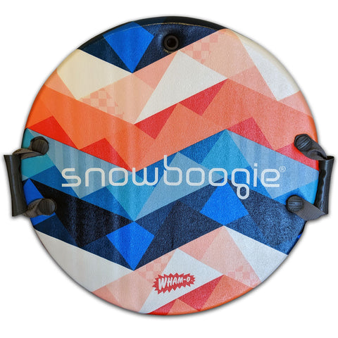"Snowboogie 26"" Air Disc Snow Sled, Blue & Red Geometric Design"