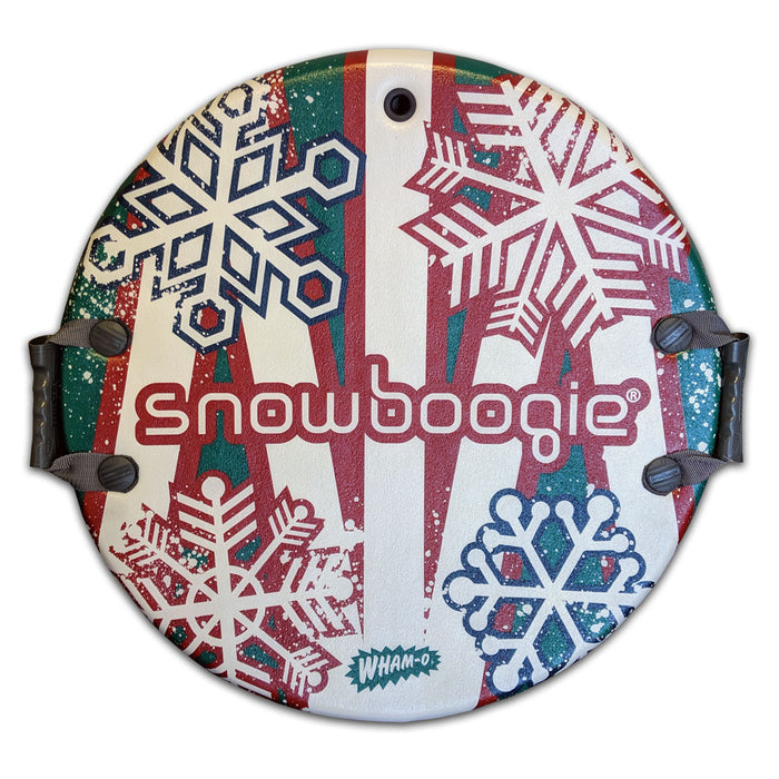 "Snowboogie 26"" Air Disc Snow Sled, Red & Green Snow Flake Design"