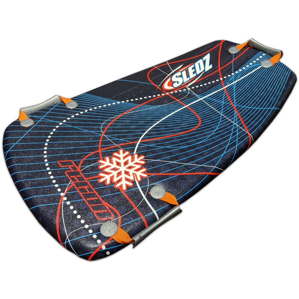 "Snow Daze Recon 36"" Shred Pod Snow Sled, Red"