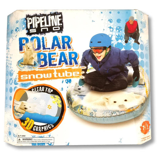 "Pipeline Sno 48"" Transparent Air Polar Bear Snow Tube"