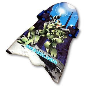 "Classic 39"" Snowslider Foam Kid's Snow Sled with Cool Robot Graphics"