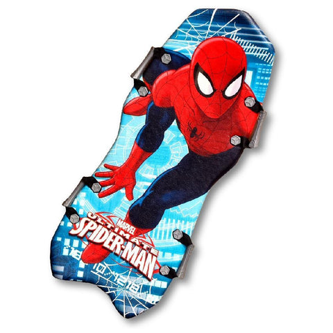 Snowslider 45 Inch Slick Bottom Two Person Spiderman Foam Sled