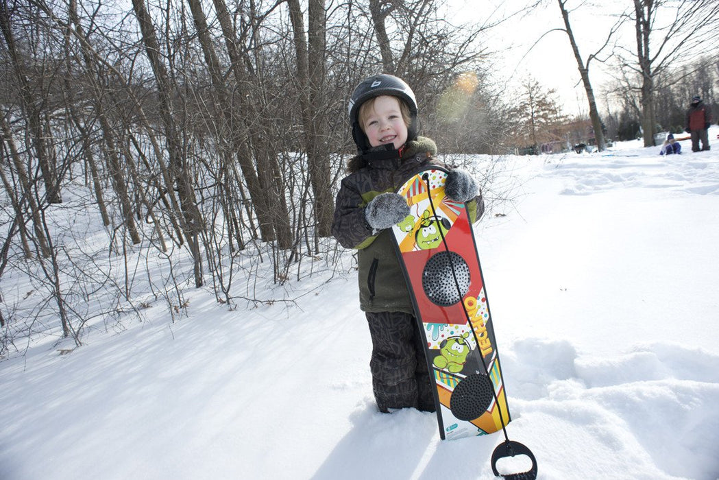 Winter Sports and Snow Toys Techno Beginner's Snowboard with Rope Handle - Grizzly Supply Co