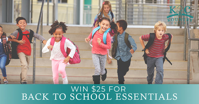 Win $25 for Back to School Essentials