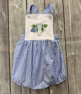 Infant Checkered Cow Romper