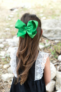 Girl's Large 6 Inch Bow w/alligator clip