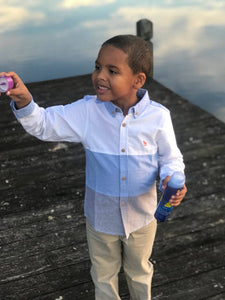 Toddler Boy's Long Sleeve Button Down Shirt