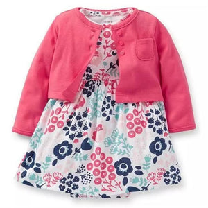 Infant Girl's 2PC Cardigan Sweater & Dress Set