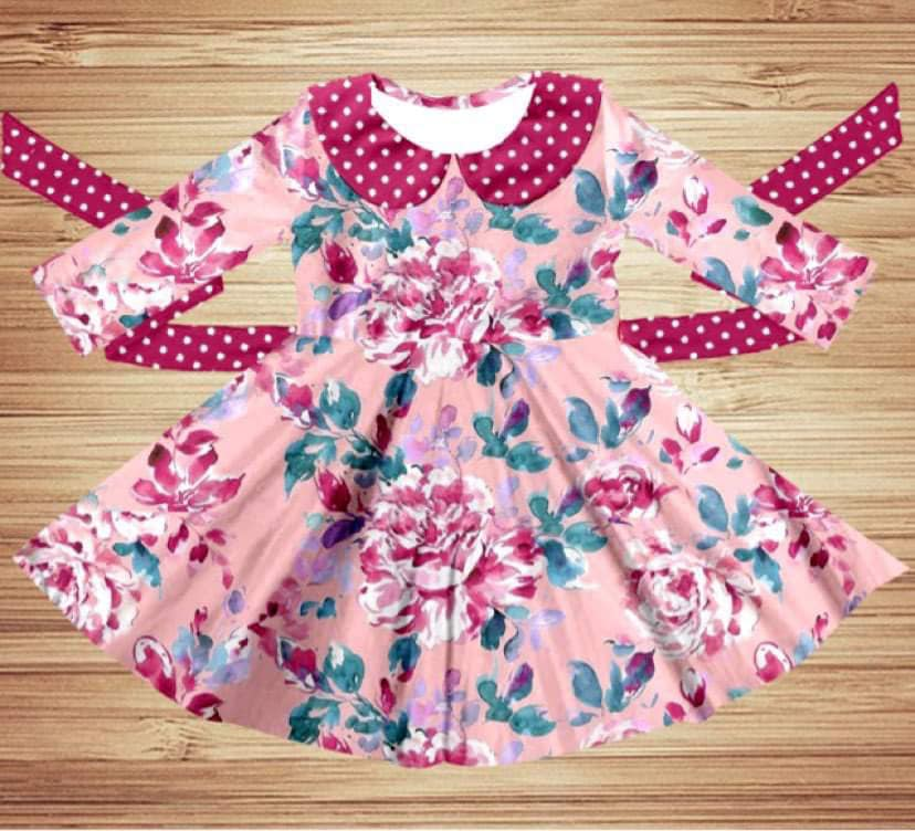 Pretty in Pink Floral Twirl Dress