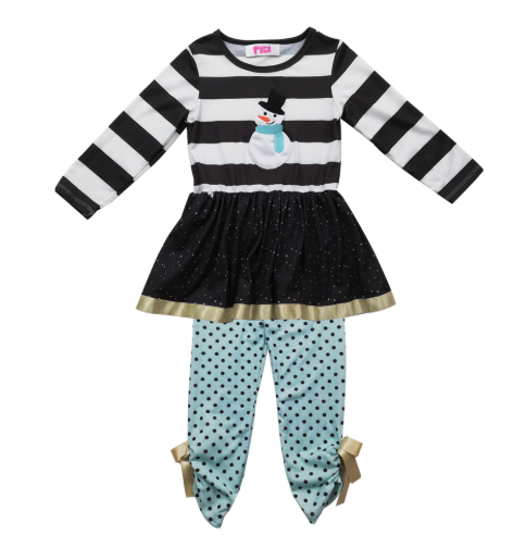 Girl's Holiday 2PC Snowman Set