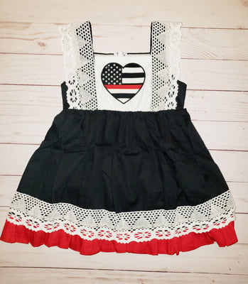 Girl's Thin Red Line Dress