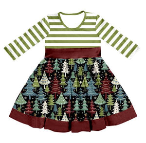 Girl's Winter Forest Twirl Dress