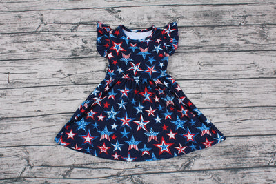 Girl's Patriotic Stars Dress