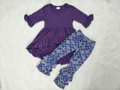 Girl's 2PC Mermaid Hi-Low Tunic Set