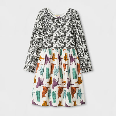 Girl's Zebra Kitty Dress