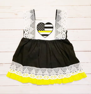 Girl's Thin Gold Line Dress