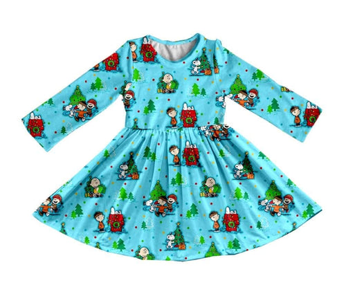 Girl's Snoopy & Friends Christmas Twirl Dress