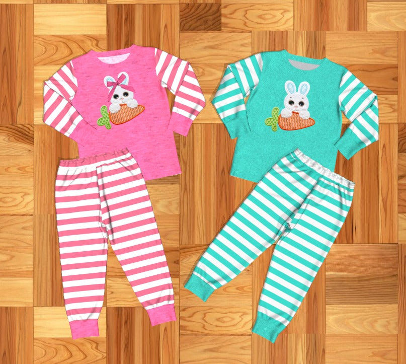 Boy's and Girl's Easter Bunny Pajamas