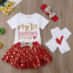 My 1st Valentine's Day 4PC Tutu Set