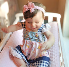 Girl's Floral & Checkered Dress