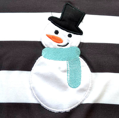 Infant Girl's Snowman Romper