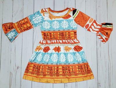 Girl's Fall Twirl  Dress