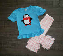 Girl's Winter Penguin 2PC Tunic Set