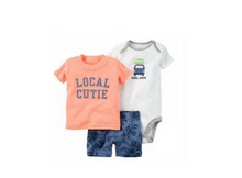 "Infant Boy's ""Local Cutie"" 3PC  Shorts Set"