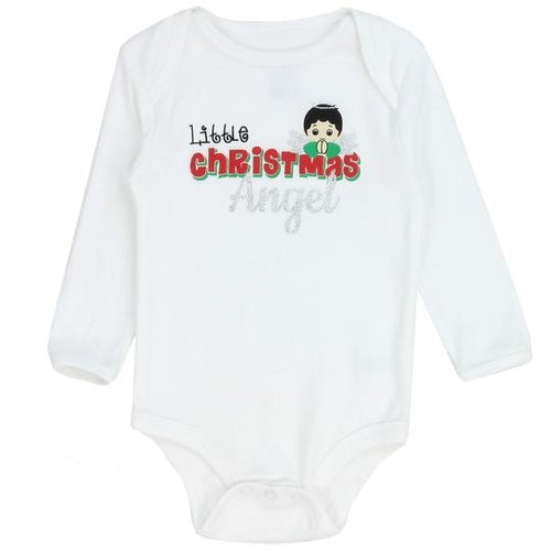 Infants Little Christmas Angel Onesie