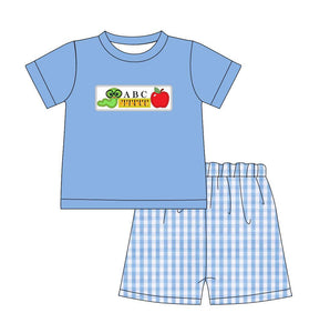 Boy's Back to School Checkered 2PC Short Set