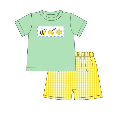 Boy's Bumble Bee & Honey 2PC Short Set