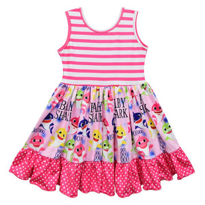 Girl's Baby Shark Tank Twirl Dress