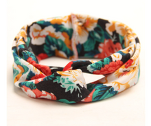 Girl's Red & Floral Knotted Headband