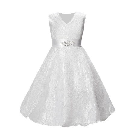Girl's Formal Dress - Ashley (White)