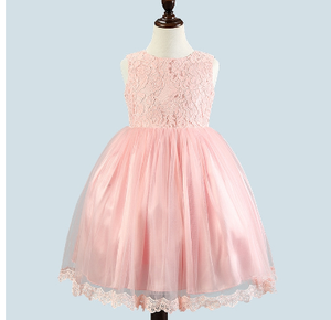 Girl's Party Dress  - Olivia (Pink)