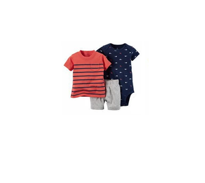 Infant Boy's Shark 3PC Short Set