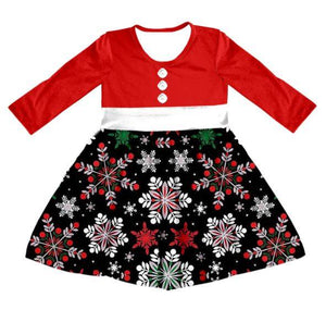 Girl's Winter Snowflake Twirl Dress