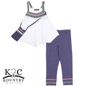 "Girls ""Dakota""  2PC Legging Set w/ Purse"