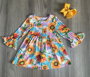 Girl's Sunflower Twirl Dress
