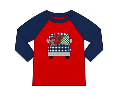 Christmas Puppy Raglan