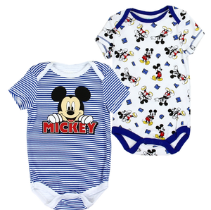 Infant's 2-Pack Blue Mickey Mouse Rompers