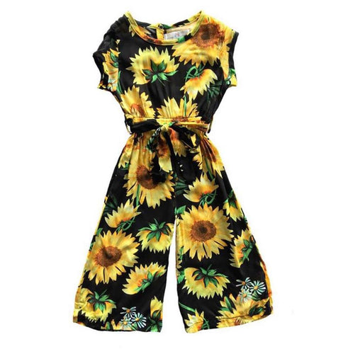 Girl's Sunflower Jumpsuit