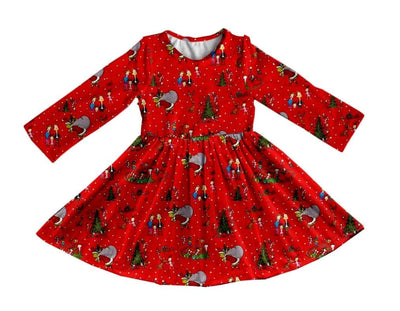 Girl's Grinch & Friends Christmas Twirl Dress