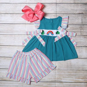 Girl's Lucky Rainbow 2PC Short Set