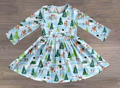 Girl's Rudolph & Friends Christmas Twirl Dress