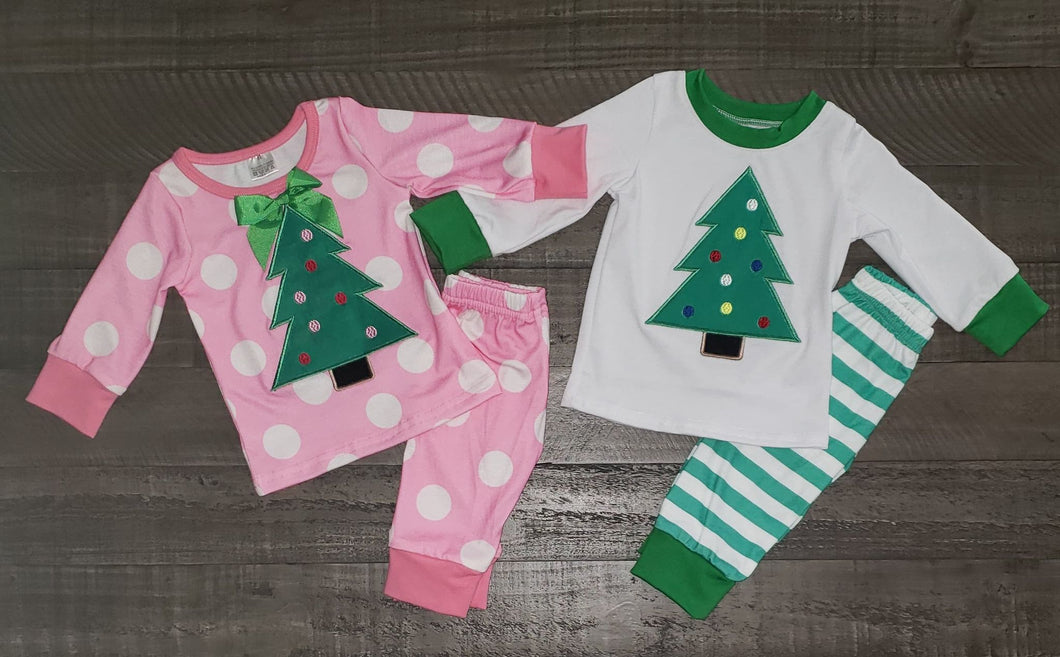 Matching Sibling Christmas Tree Pajamas