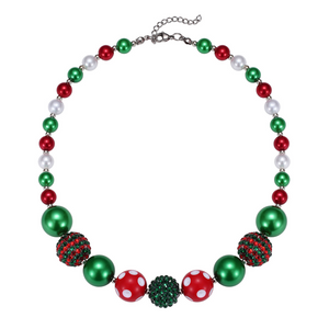 Red & Green Holiday Chunky Necklace
